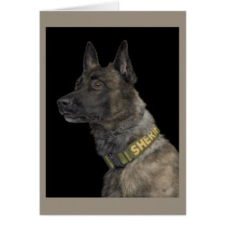 "Working Dutch Shepherd Card - ""K9 Yukon"""