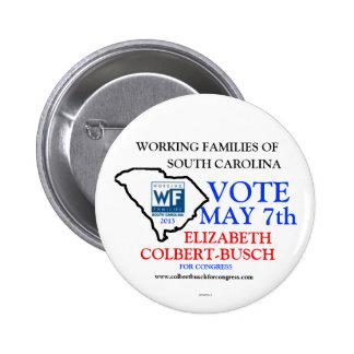 Working Families For Elizabeth Colbert Busch 2 Inch Round Button