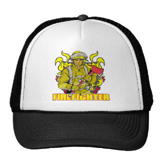 Working Firefighter Mesh Hats