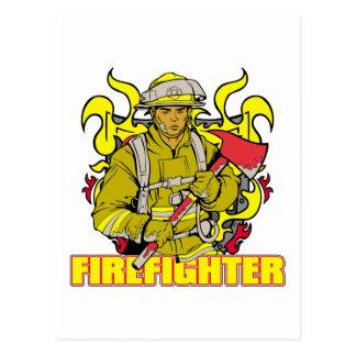 Working Firefighter Postcard