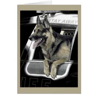"Working German Shepherd Card - ""K9 Ronin"""