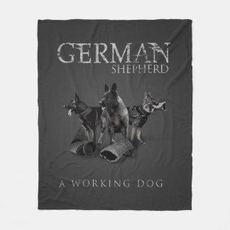 Working German Shepherd Dog  - GSD Fleece Blanket