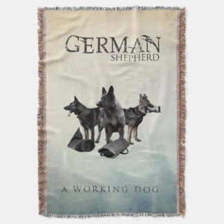 Working German Shepherd Dog  - GSD Throw Blanket
