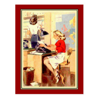 Working Girl Postcard