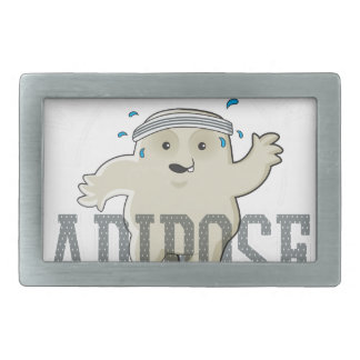Working My Adipose Off - Exercise, Working Out Belt Buckle