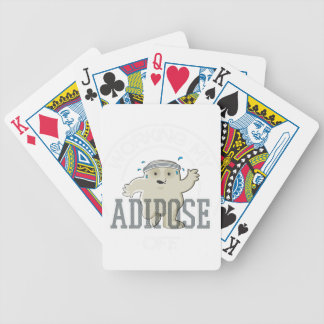 Working My Adipose Off - Exercise, Working Out Bicycle Playing Cards