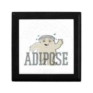 Working My Adipose Off - Exercise, Working Out Gift Box