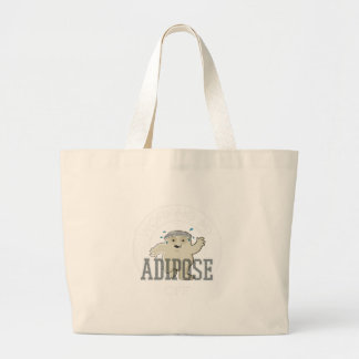 Working My Adipose Off - Exercise, Working Out Large Tote Bag