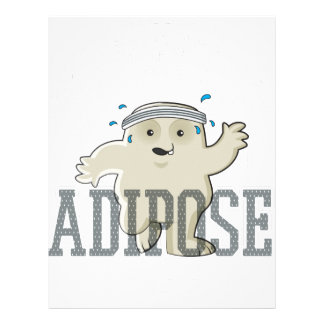 Working My Adipose Off - Exercise, Working Out Letterhead