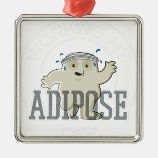 Working My Adipose Off - Exercise, Working Out Metal Ornament