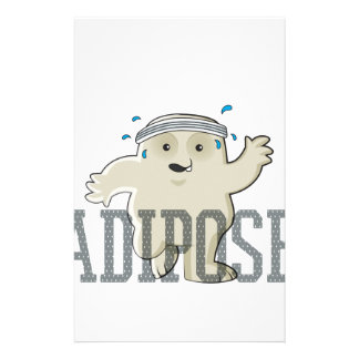 Working My Adipose Off - Exercise, Working Out Stationery