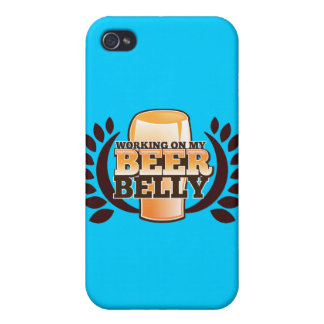 WORKING ON MY BEER BELLY design iPhone 4/4S Covers