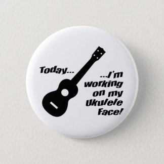 Working on my ukulele face! 2 inch round button