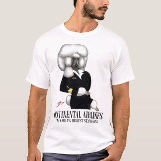 Working Poodle In Continental Clip T-Shirt