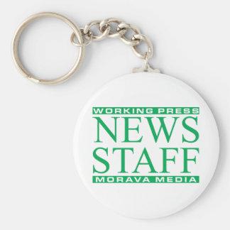 Working Press Basic Round Button Keychain