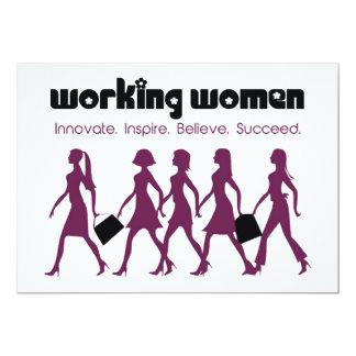 "Working Women 5"" X 7"" Invitation Card"