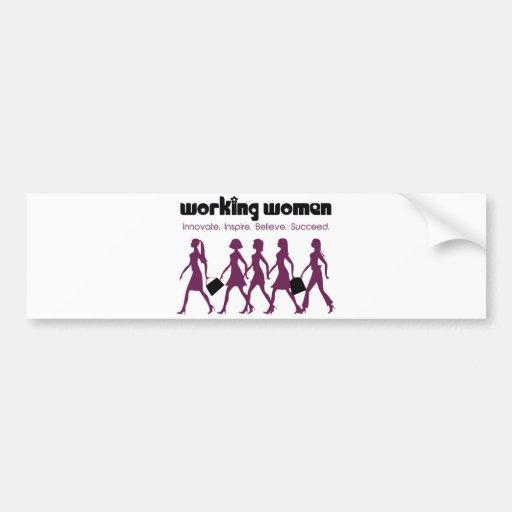 Working Women Bumper Stickers