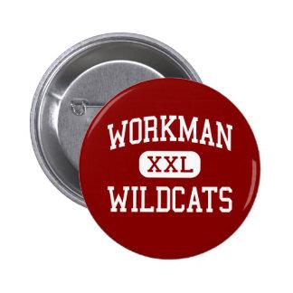 Workman - Wildcats - Junior - Arlington Texas Pinback Button