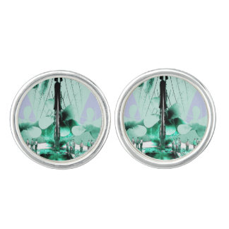 Workmen Beside Titanic's Propellers Cufflinks