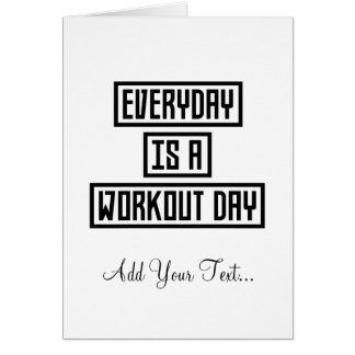 Workout Day fitness Z2y22 Card