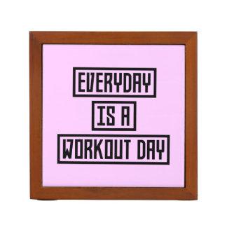 Workout Day fitness Z2y22 Desk Organizer