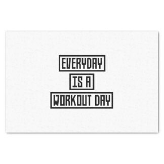 Workout Day fitness Z2y22 Tissue Paper