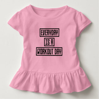 Workout Day fitness Z2y22 Toddler T-shirt