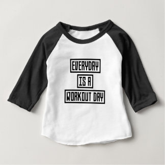 Workout Day fitness Zx41w Baby T-Shirt