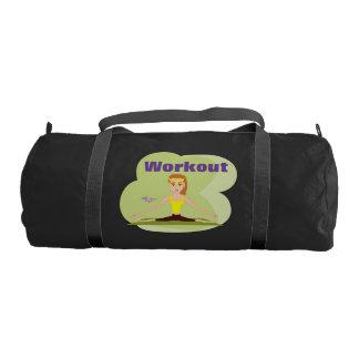 Workout Girl Black Gym/Duffel Bag