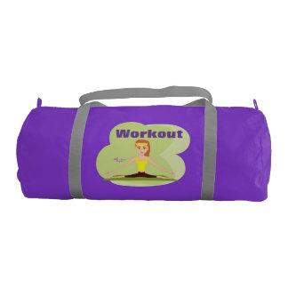 Workout Girl Purple Gym/Duffel Bag