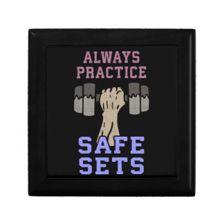 Workout Humor - Practice Safe Sets - Novelty Gym Gift Box