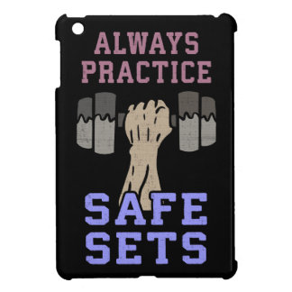 Workout Humor - Practice Safe Sets - Novelty Gym iPad Mini Cases