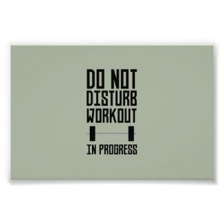 Workout in Progress  Zzu78 Photo Print