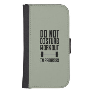 Workout in Progress  Zzu78 Samsung S4 Wallet Case
