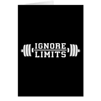 Workout Inspiration - Ignore Limits - Motivational Card