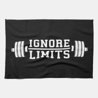 Workout Inspiration - Ignore Limits - Motivational Kitchen Towel