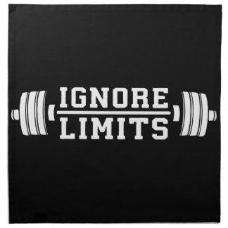 Workout Inspiration - Ignore Limits - Motivational Napkin
