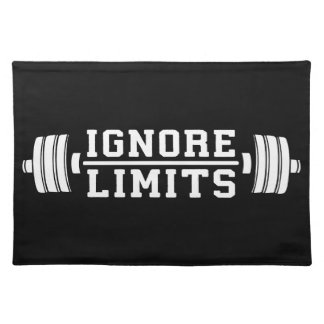 Workout Inspiration - Ignore Limits - Motivational Placemat