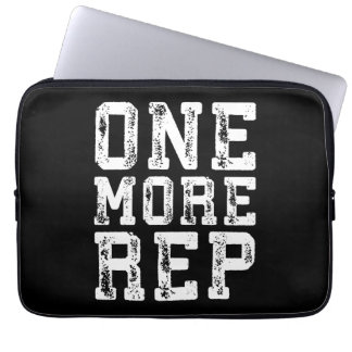 Workout Inspiration - One More Rep - Motivational Laptop Sleeve