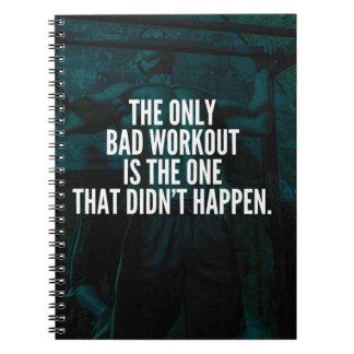 Workout Inspirational Words - Bad Workout Spiral Notebook