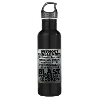 Workout Inspirational Words - Challenges and Goals 710 Ml Water Bottle