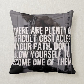 Workout Inspirational Words - Obstacles Throw Pillow