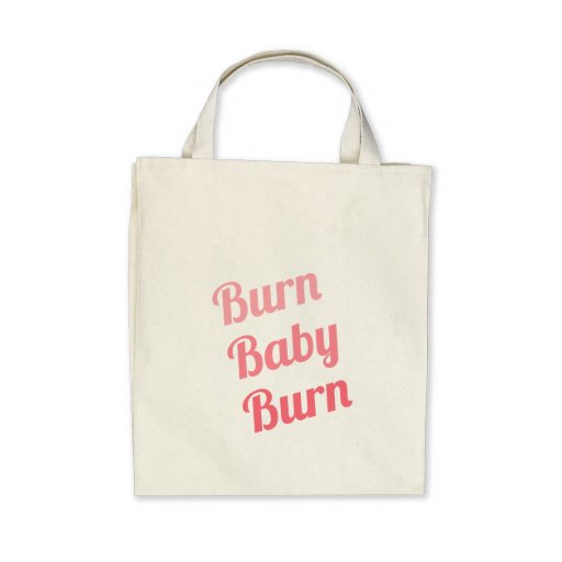 Workout Inspiring Quote Burn Baby White Tote Bags