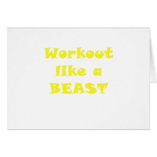 Workout like a Beast Card