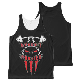 Workout Monster All-Over-Print Tank Top