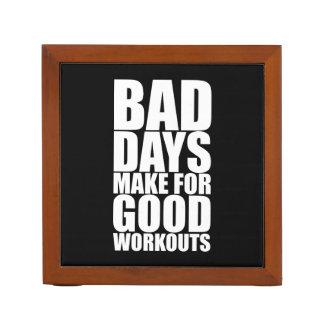 Workout Motivation - Bad Days Make Good Workouts Desk Organizer