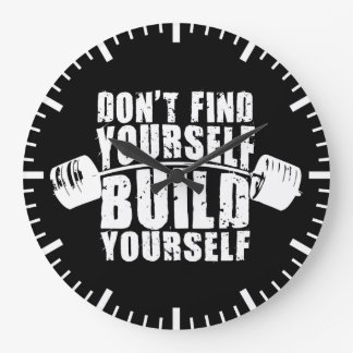 Workout Motivation - Build Yourself - Barbell Clocks