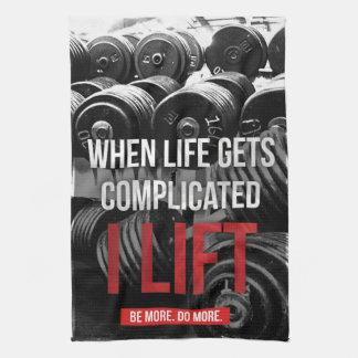Workout Motivation - I LIFT Kitchen Towel