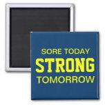 Workout Motivation Square Magnet