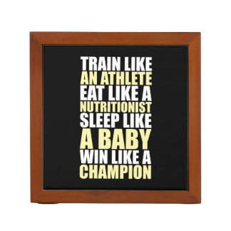 Workout Motivation - Win Like A Champion Desk Organizer